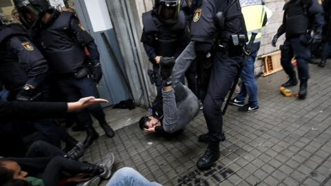 Police brutality during Catalonia's independence vote